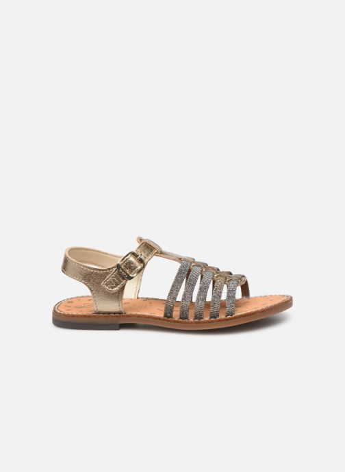 Sandals Bopy Eleanor Bronze and Gold back view