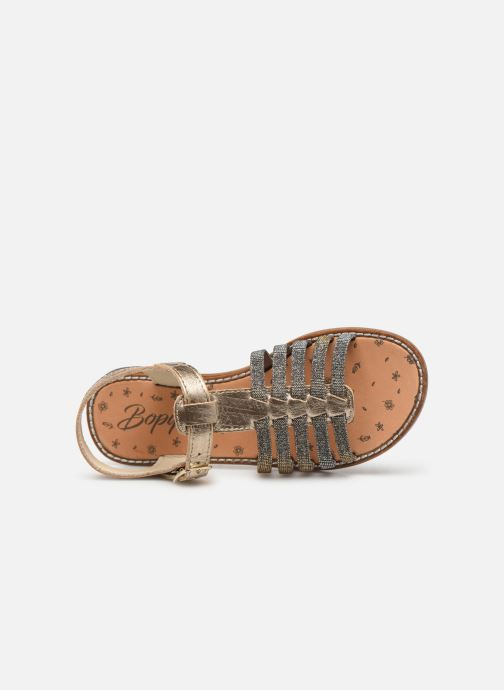 Sandals Bopy Eleanor Bronze and Gold view from the left