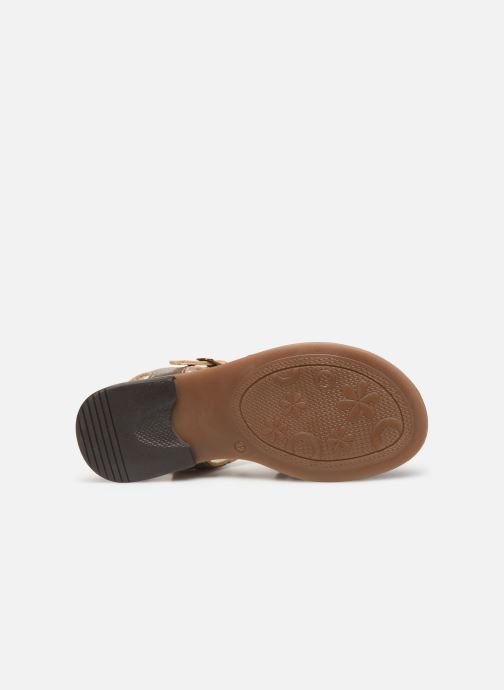 Sandales et nu-pieds Bopy Eleanor Or et bronze vue haut