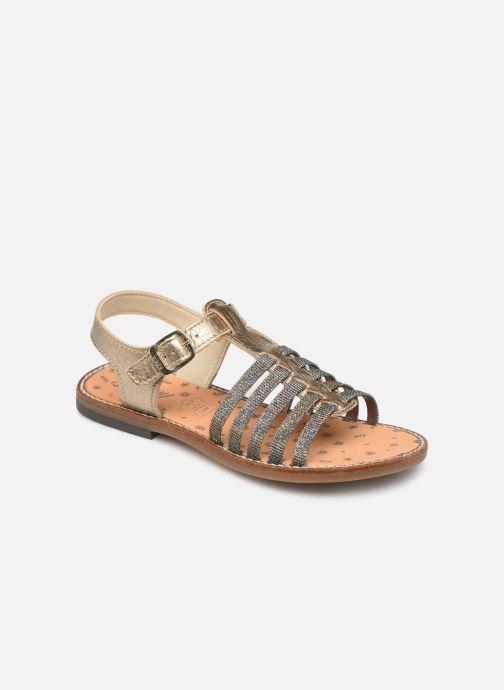 Sandalias Bopy Eleanor Oro y bronce vista de detalle / par