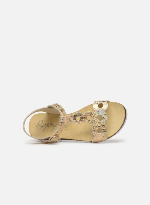 Sandals Bopy Endy Bronze and Gold view from the left