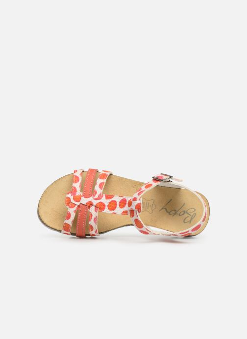 Sandals Bopy Esilda Orange view from the left