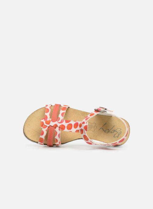 Sandales et nu-pieds Bopy Esilda Orange vue gauche