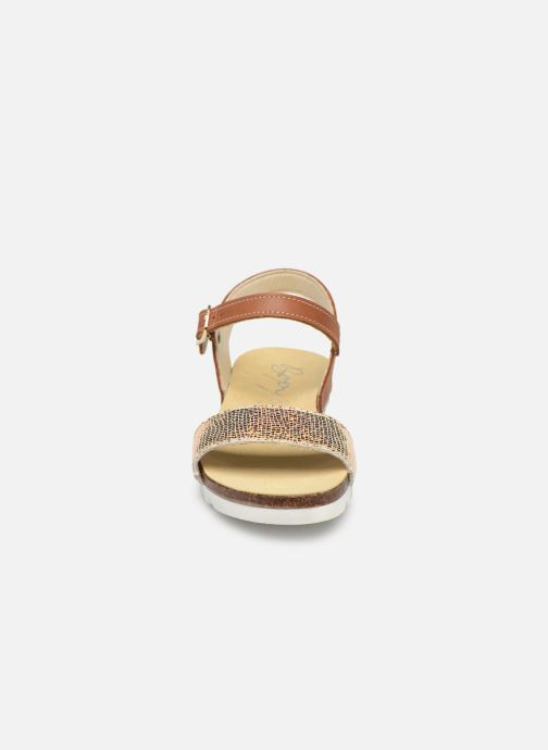 Sandals Bopy Evina Bronze and Gold model view