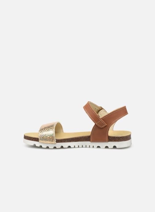 Sandals Bopy Evina Bronze and Gold front view