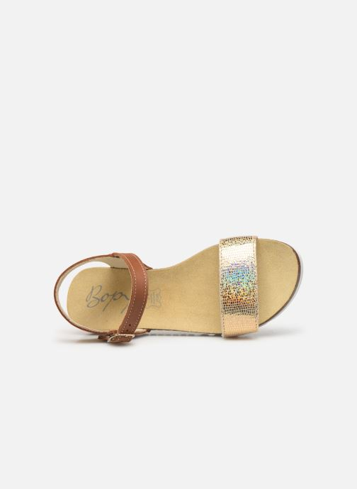 Sandals Bopy Evina Bronze and Gold view from the left