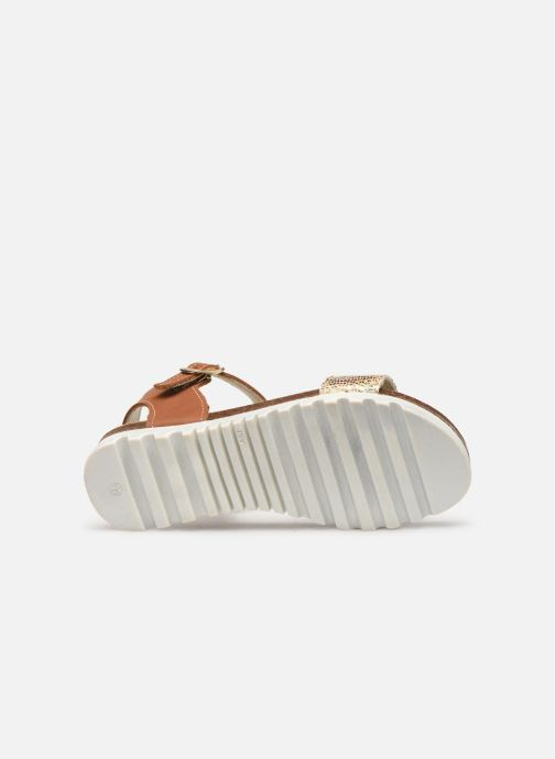 Sandals Bopy Evina Bronze and Gold view from above