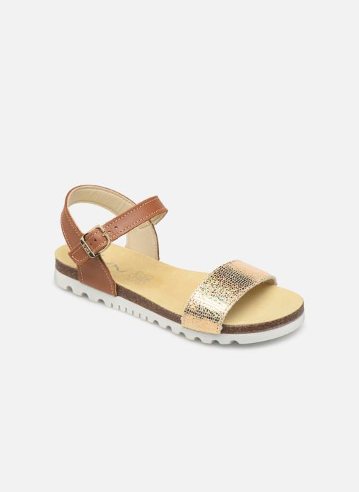 Sandals Bopy Evina Bronze and Gold detailed view/ Pair view