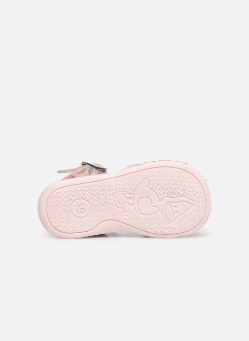 Sandales et nu-pieds Bopy Pafleur Rose vue haut