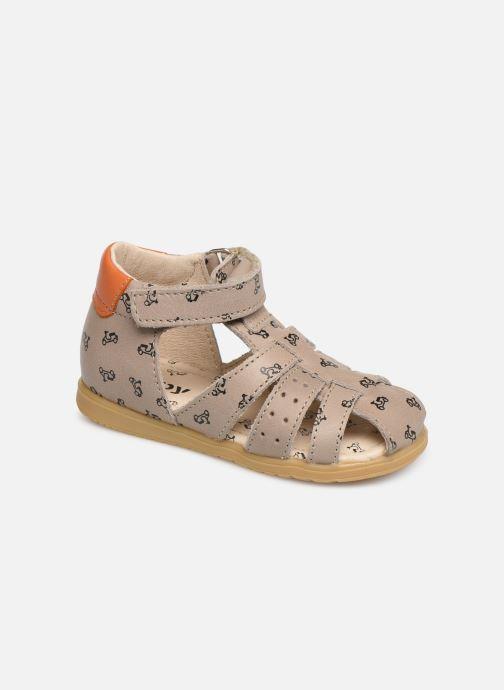 Sandales et nu-pieds Bopy Racine Beige vue détail/paire