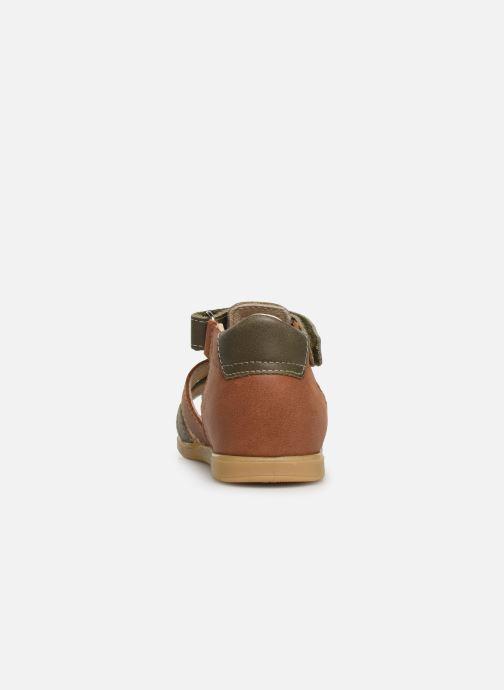 Sandales et nu-pieds Bopy Rado Vert vue droite