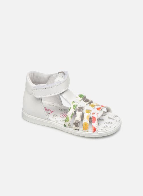 Sandales et nu-pieds Bopy Repois Blanc vue détail/paire