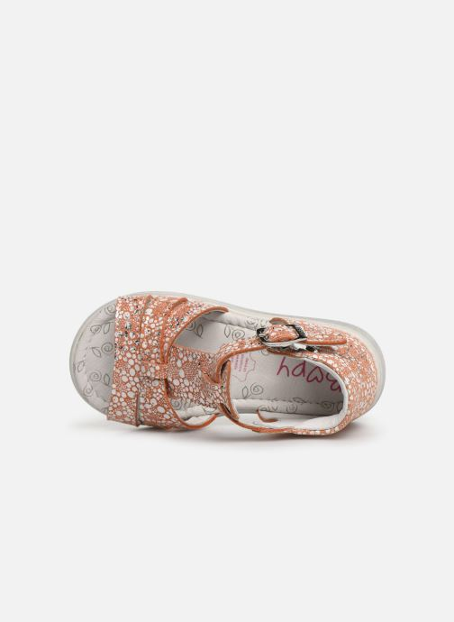 Sandals Bopy Rosa Orange view from the left