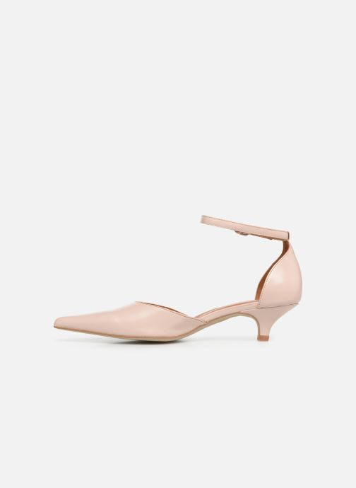 Zapatos de tacón Georgia Rose Tehila Beige vista de frente