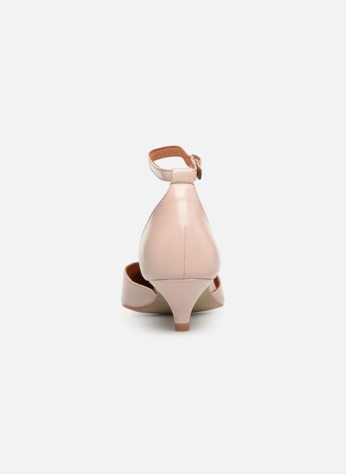 Zapatos de tacón Georgia Rose Tehila Beige vista lateral derecha