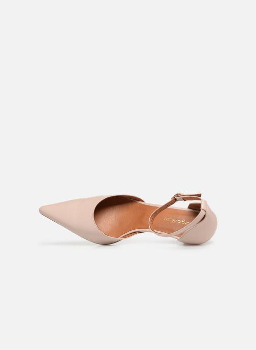 Zapatos de tacón Georgia Rose Tehila Beige vista lateral izquierda