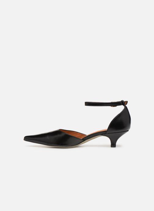 Zapatos de tacón Georgia Rose Tehila Negro vista de frente