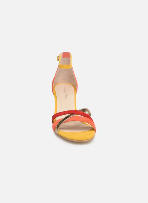 Sandales et nu-pieds Georgia Rose Tabrida Orange vue portées chaussures