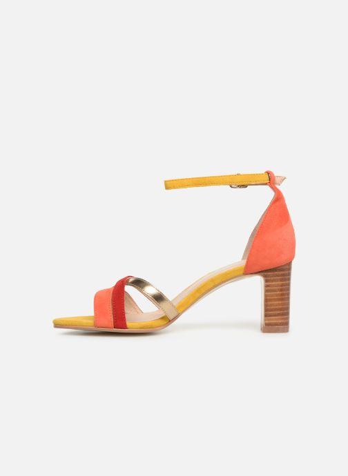 Sandales et nu-pieds Georgia Rose Tabrida Orange vue face