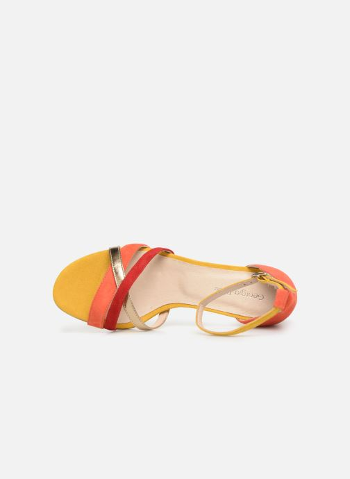 Sandales et nu-pieds Georgia Rose Tabrida Orange vue gauche