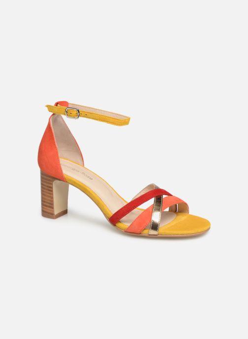 Sandales et nu-pieds Georgia Rose Tabrida Orange vue détail/paire