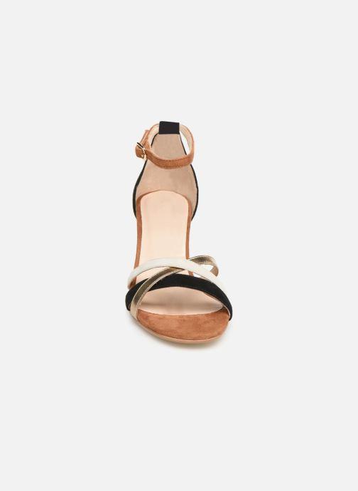 Sandales et nu-pieds Georgia Rose Tabrida Marron vue portées chaussures