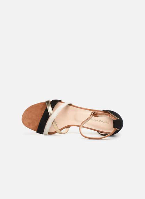 Sandales et nu-pieds Georgia Rose Tabrida Marron vue gauche