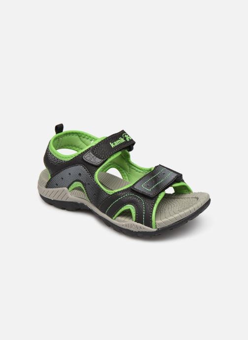 Sandals Kamik Dune Black detailed view/ Pair view