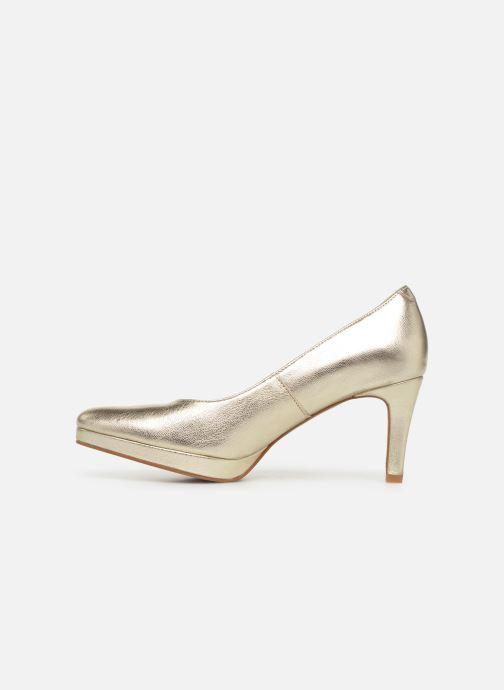 Zapatos de tacón Georgia Rose Tavaria Oro y bronce vista de frente