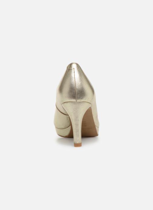 Zapatos de tacón Georgia Rose Tavaria Oro y bronce vista lateral derecha