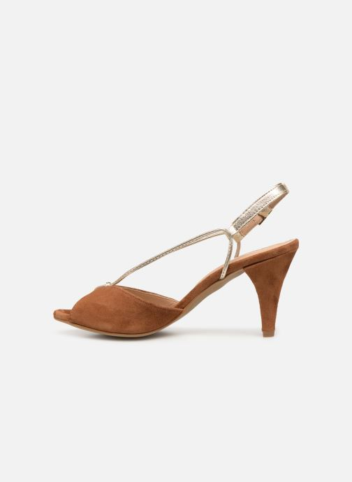 Sandales et nu-pieds Georgia Rose Tasulta Marron vue face