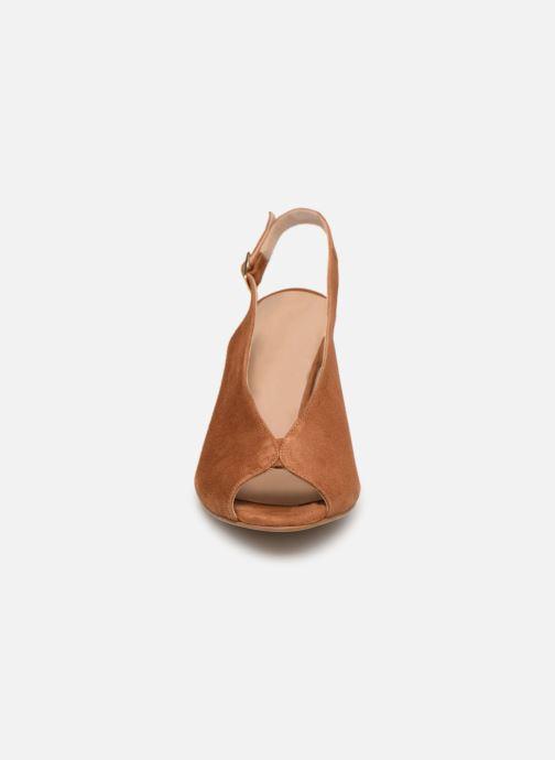 Sandales et nu-pieds Georgia Rose Taminela Marron vue portées chaussures