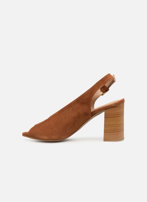 Sandales et nu-pieds Georgia Rose Taminela Marron vue face