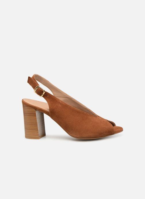 Sandales et nu-pieds Georgia Rose Taminela Marron vue derrière