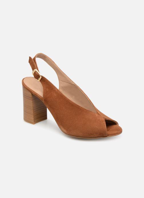 Sandales et nu-pieds Georgia Rose Taminela Marron vue détail/paire