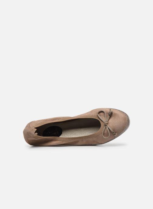 Bailarinas I Love Shoes FILOU Size + Beige vista lateral izquierda