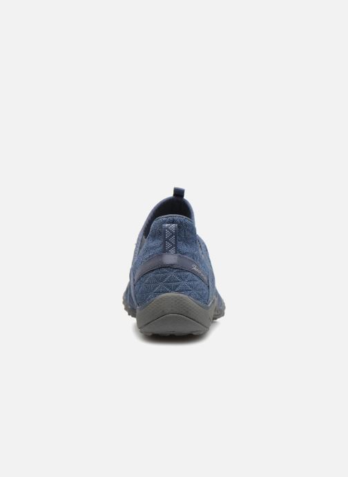 Baskets Skechers Breathe-Easy-Viva-City Bleu vue droite