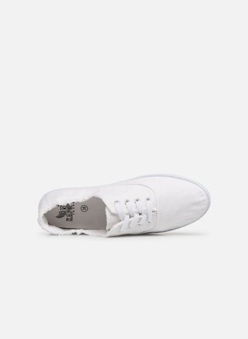 Trainers Kaporal Desma White view from the left