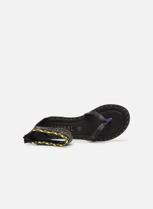 Sandals Kaporal Thylia Black view from the left