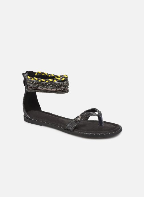 Sandals Kaporal Thylia Black detailed view/ Pair view
