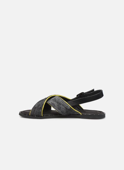 Sandals Kaporal Syntia Black front view