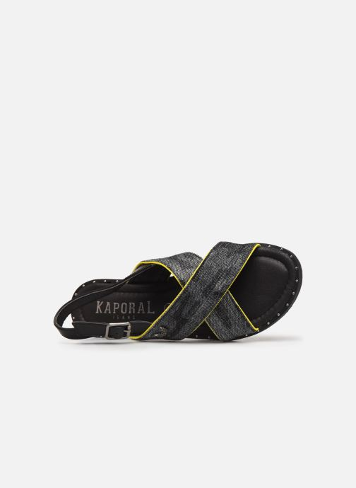 Sandals Kaporal Syntia Black view from the left