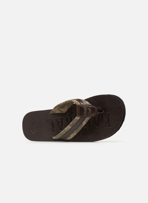 Flip flops Kaporal Rable Brown view from the left