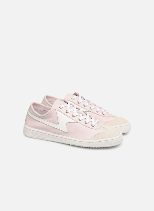 Baskets PS Paul Smith Ziggy Womens Shoes Rose vue 3/4