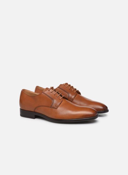 Chaussures à lacets PS Paul Smith Daniel Marron vue 3/4