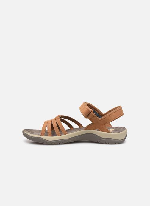 Sandales et nu-pieds Teva Elzada Sandal LEA Marron vue face