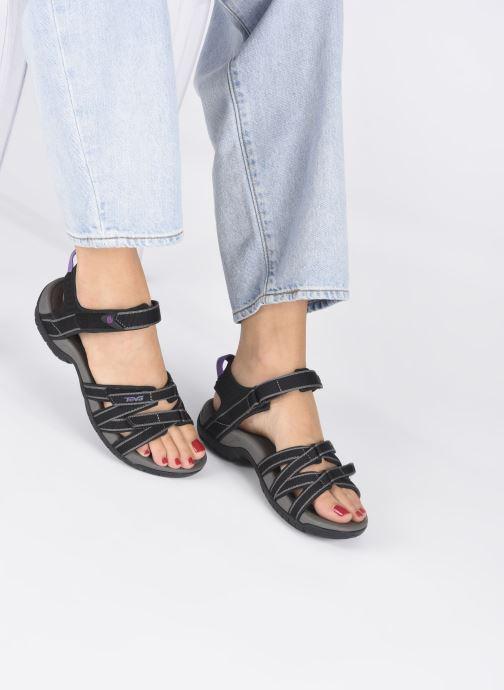 Sandalen Teva Tirra schwarz ansicht von unten / tasche getragen