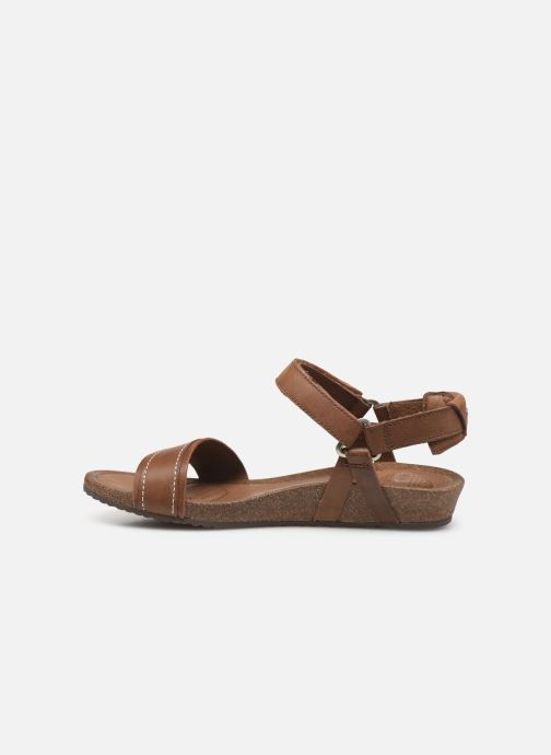 Sandals Teva Ysidro Stitch Sandal Brown front view