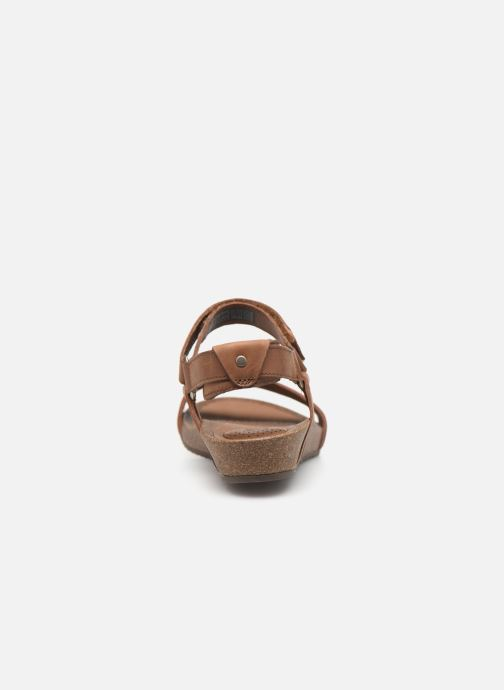 Sandals Teva Ysidro Stitch Sandal Brown view from the right