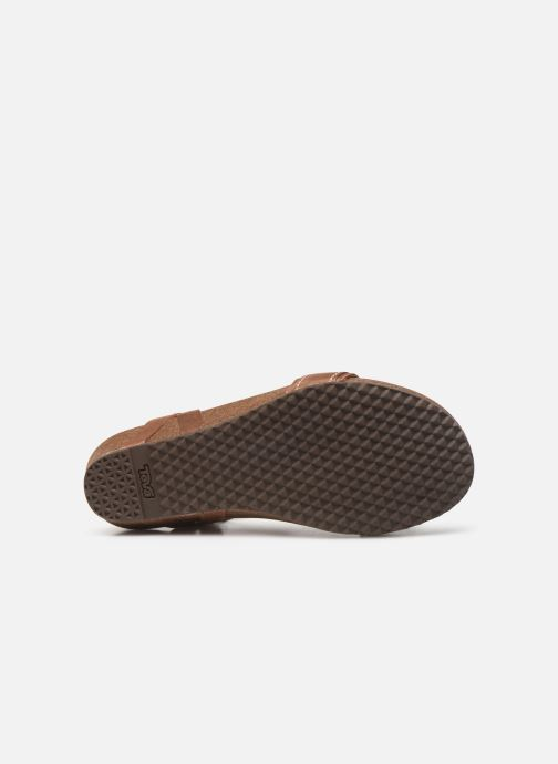 Sandals Teva Ysidro Stitch Sandal Brown view from above